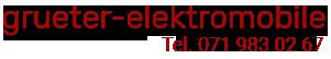 Grüter Elektromobile-Logo